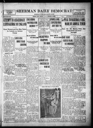 Primary view of object titled 'Sherman Daily Democrat (Sherman, Tex.), Vol. THIRTY-SIXTH YEAR, Ed. 1 Wednesday, January 31, 1917'.
