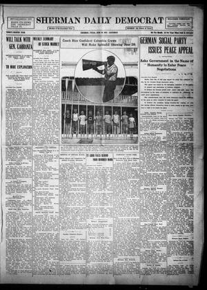 Primary view of object titled 'Sherman Daily Democrat (Sherman, Tex.), Vol. THIRTY-FOURTH YEAR, Ed. 1 Saturday, June 26, 1915'.