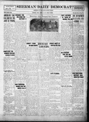 Primary view of object titled 'Sherman Daily Democrat (Sherman, Tex.), Vol. THIRTY-EITHTH YEAR, Ed. 1 Friday, March 14, 1919'.