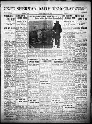 Primary view of object titled 'Sherman Daily Democrat (Sherman, Tex.), Vol. THIRTY-FOURTH YEAR, Ed. 1 Wednesday, January 13, 1915'.