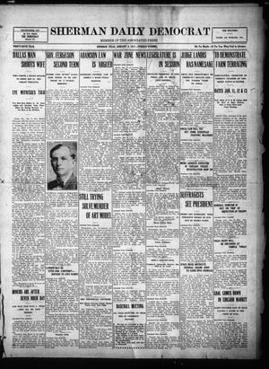 Primary view of object titled 'Sherman Daily Democrat (Sherman, Tex.), Vol. THIRTY-SIXTH YEAR, Ed. 1 Tuesday, January 9, 1917'.