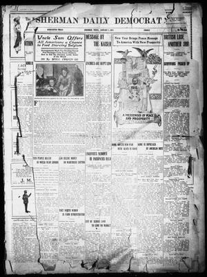Primary view of object titled 'Sherman Daily Democrat (Sherman, Tex.), Vol. THIRTY-FOURTH YEAR, Ed. 1 Friday, January 1, 1915'.