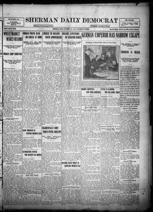 Primary view of object titled 'Sherman Daily Democrat (Sherman, Tex.), Vol. THIRTY-SIXTH YEAR, Ed. 1 Saturday, October 28, 1916'.