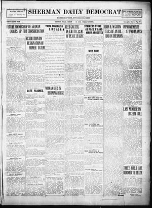 Primary view of object titled 'Sherman Daily Democrat (Sherman, Tex.), Vol. THIRTY-EITHTH YEAR, Ed. 1 Tuesday, March 18, 1919'.
