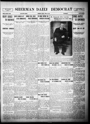 Primary view of object titled 'Sherman Daily Democrat (Sherman, Tex.), Vol. THIRTY-FOURTH YEAR, Ed. 1 Wednesday, April 28, 1915'.
