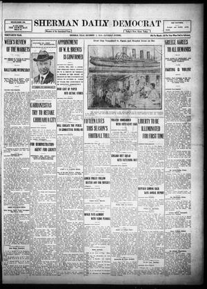 Primary view of object titled 'Sherman Daily Democrat (Sherman, Tex.), Vol. THIRTY-SIXTH YEAR, Ed. 1 Saturday, December 2, 1916'.