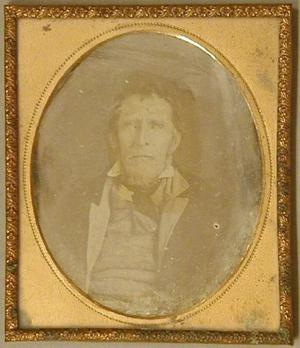 Primary view of object titled '[Daguerreotype of Henry Jones]'.