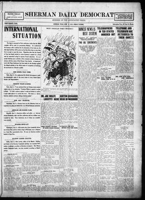Primary view of object titled 'Sherman Daily Democrat (Sherman, Tex.), Vol. THIRTY-EITHTH YEAR, Ed. 1 Friday, June 6, 1919'.