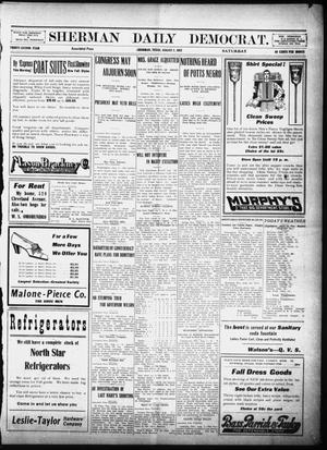 Primary view of object titled 'Sherman Daily Democrat (Sherman, Tex.), Vol. 32, Ed. 1 Saturday, August 3, 1912'.