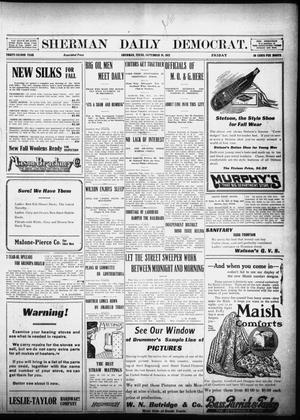Primary view of object titled 'Sherman Daily Democrat (Sherman, Tex.), Vol. 32, Ed. 1 Friday, September 20, 1912'.