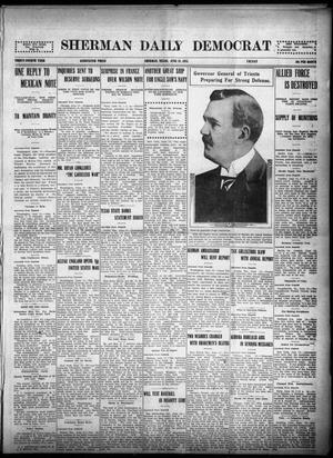 Primary view of object titled 'Sherman Daily Democrat (Sherman, Tex.), Vol. THIRTY-FOURTH YEAR, Ed. 1 Friday, June 18, 1915'.
