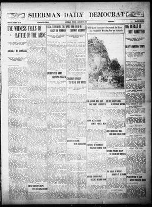 Primary view of object titled 'Sherman Daily Democrat (Sherman, Tex.), Vol. THIRTY-FOURTH YEAR, Ed. 1 Thursday, January 7, 1915'.