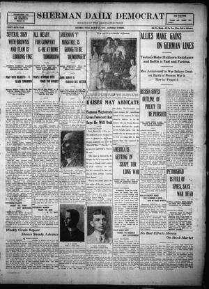 Primary view of object titled 'Sherman Daily Democrat (Sherman, Tex.), Vol. THIRTY-SIXTH YEAR, Ed. 1 Saturday, March 24, 1917'.