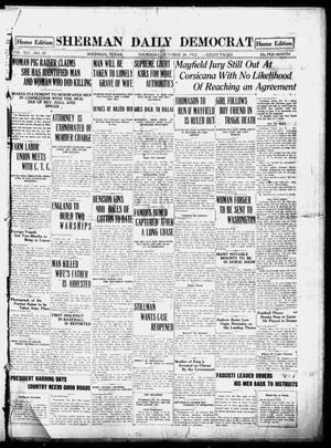 Primary view of object titled 'Sherman Daily Democrat (Sherman, Tex.), Vol. 41, No. 87, Ed. 1 Thursday, October 26, 1922'.
