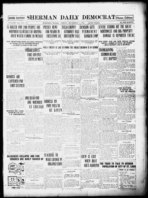 Primary view of object titled 'Sherman Daily Democrat (Sherman, Tex.), Vol. 41, No. 119, Ed. 1 Friday, December 1, 1922'.