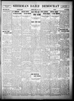 Primary view of object titled 'Sherman Daily Democrat (Sherman, Tex.), Vol. THIRTY-FOURTH YEAR, Ed. 1 Tuesday, May 18, 1915'.