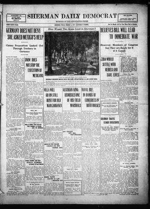 Primary view of object titled 'Sherman Daily Democrat (Sherman, Tex.), Vol. THIRTY-SIXTH YEAR, Ed. 1 Saturday, March 3, 1917'.