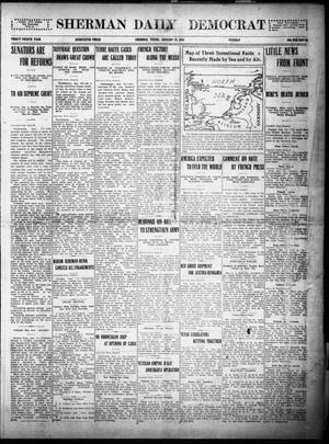 Primary view of object titled 'Sherman Daily Democrat (Sherman, Tex.), Vol. THIRTY-FOURTH YEAR, Ed. 1 Tuesday, January 12, 1915'.