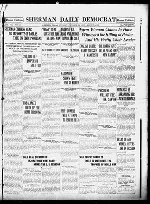 Primary view of object titled 'Sherman Daily Democrat (Sherman, Tex.), Vol. 41, No. 85, Ed. 1 Tuesday, October 24, 1922'.