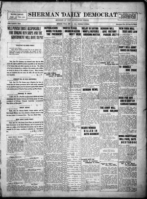 Primary view of object titled 'Sherman Daily Democrat (Sherman, Tex.), Vol. THIRTY-EITHTH YEAR, Ed. 1 Thursday, June 26, 1919'.