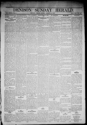 Primary view of object titled 'Denison Daily Herald. (Denison, Tex.), Vol. 1, No. 162, Ed. 1 Sunday, March 31, 1878'.