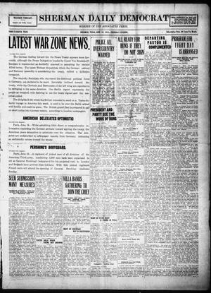 Primary view of object titled 'Sherman Daily Democrat (Sherman, Tex.), Vol. THIRTY-EITHTH YEAR, Ed. 1 Thursday, June 19, 1919'.