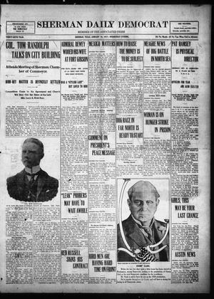 Primary view of object titled 'Sherman Daily Democrat (Sherman, Tex.), Vol. THIRTY-SIXTH YEAR, Ed. 1 Wednesday, January 24, 1917'.