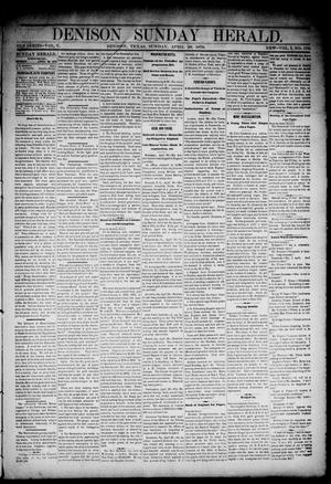 Primary view of object titled 'Denison Daily Herald. (Denison, Tex.), Vol. 1, No. 176, Ed. 1 Sunday, April 28, 1878'.