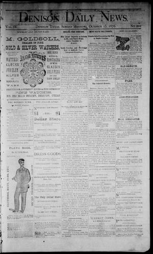 Primary view of Denison Daily News. (Denison, Tex.), Vol. 4, No. 202, Ed. 1 Sunday, October 15, 1876