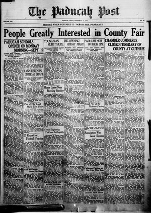 Primary view of object titled 'The Paducah Post (Paducah, Tex.), Vol. 21, No. 20, Ed. 1 Thursday, September 15, 1927'.