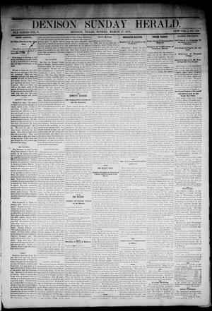 Primary view of object titled 'Denison Daily Herald. (Denison, Tex.), Vol. 1, No. 159, Ed. 1 Sunday, March 17, 1878'.