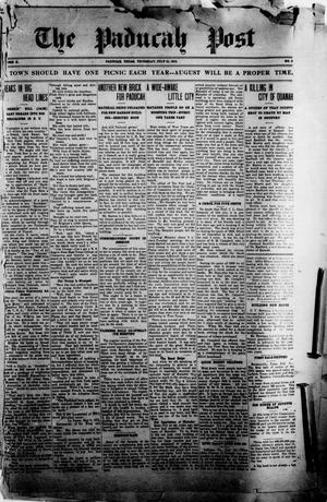 Primary view of object titled 'The Paducah Post (Paducah, Tex.), Vol. 10, No. 9, Ed. 1 Thursday, July 15, 1915'.