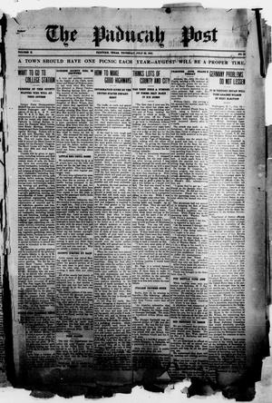 Primary view of object titled 'The Paducah Post (Paducah, Tex.), Vol. 10, No. 10, Ed. 1 Thursday, July 22, 1915'.