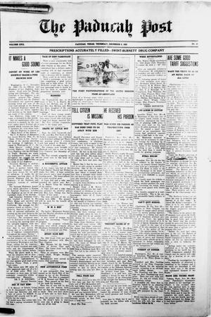 Primary view of object titled 'The Paducah Post (Paducah, Tex.), Vol. 17, No. 31, Ed. 1 Thursday, December 6, 1923'.