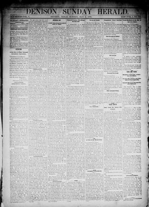 Primary view of object titled 'Denison Daily Herald. (Denison, Tex.), Vol. 1, No. 182, Ed. 1 Sunday, May 5, 1878'.