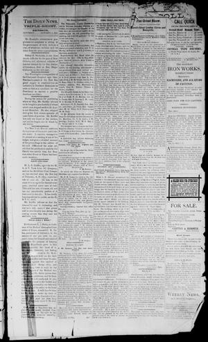 Primary view of object titled 'Denison Daily News. (Denison, Tex.), Vol. 3, No. 267, Ed. 1 Saturday, January 1, 1876'.