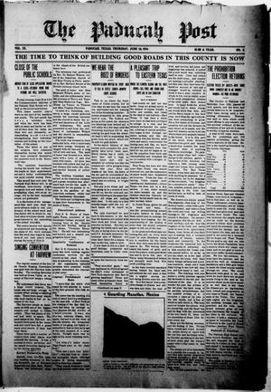 Primary view of object titled 'The Paducah Post (Paducah, Tex.), Vol. 9, No. 5, Ed. 1 Thursday, June 18, 1914'.