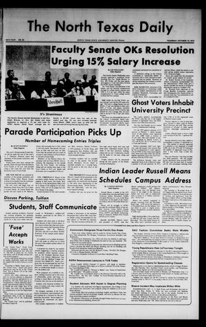 Primary view of object titled 'The North Texas Daily (Denton, Tex.), Vol. 58, No. 23, Ed. 1 Thursday, October 10, 1974'.