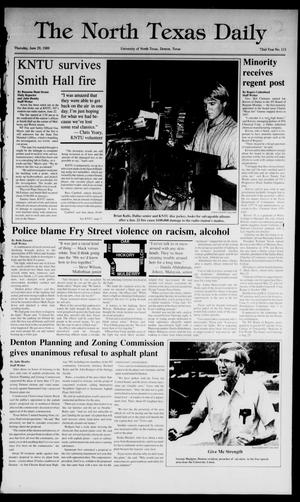 Primary view of object titled 'The North Texas Daily (Denton, Tex.), Vol. 72, No. 113, Ed. 1 Thursday, June 29, 1989'.