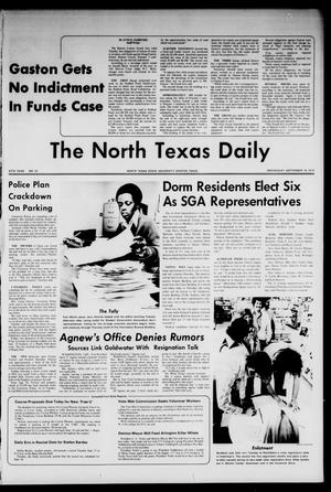 Primary view of object titled 'The North Texas Daily (Denton, Tex.), Vol. 57, No. 10, Ed. 1 Wednesday, September 19, 1973'.