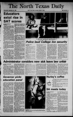 Primary view of object titled 'The North Texas Daily (Denton, Tex.), Vol. 69, No. 14, Ed. 1 Wednesday, September 25, 1985'.