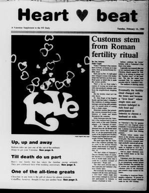 Primary view of object titled 'The North Texas Daily (Denton, Tex.), Vol. 72, No. 71, Ed. 1 Tuesday, February 14, 1989'.