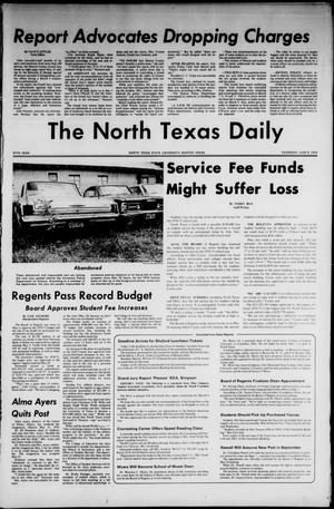Primary view of object titled 'The North Texas Daily (Denton, Tex.), Vol. 57, No. 111, Ed. 1 Thursday, June 6, 1974'.