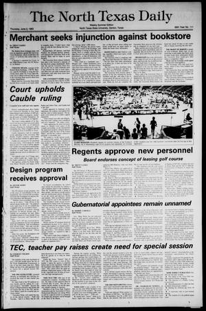 Primary view of object titled 'The North Texas Daily (Denton, Tex.), Vol. 66, No. 111, Ed. 1 Thursday, June 2, 1983'.