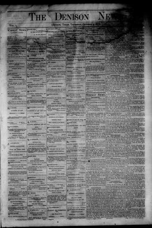 Primary view of object titled 'The Denison News. (Denison, Tex.), Vol. 1, No. 42, Ed. 1 Thursday, October 9, 1873'.