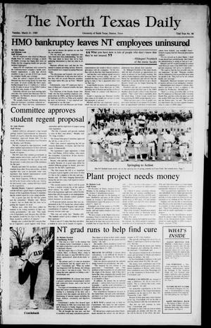 Primary view of object titled 'The North Texas Daily (Denton, Tex.), Vol. 72, No. 86, Ed. 1 Tuesday, March 21, 1989'.
