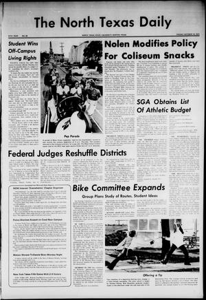 Primary view of object titled 'The North Texas Daily (Denton, Tex.), Vol. 57, No. 28, Ed. 1 Friday, October 19, 1973'.