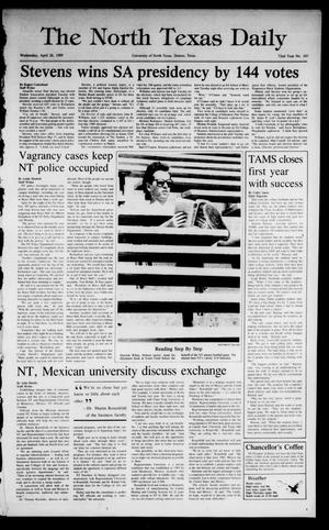 Primary view of object titled 'The North Texas Daily (Denton, Tex.), Vol. 72, No. 107, Ed. 1 Wednesday, April 26, 1989'.