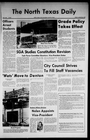 Primary view of object titled 'The North Texas Daily (Denton, Tex.), Vol. 58, No. 58, Ed. 1 Friday, January 24, 1975'.