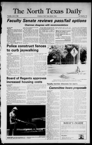 Primary view of object titled 'The North Texas Daily (Denton, Tex.), Vol. 71, No. 112, Ed. 1 Thursday, June 9, 1988'.